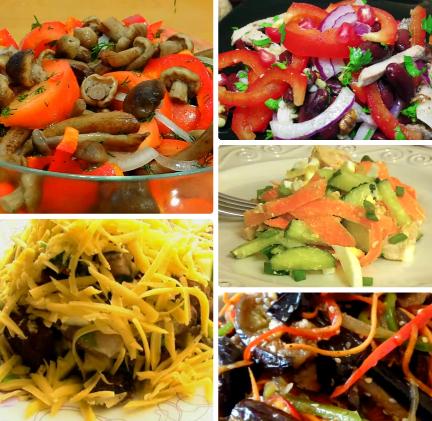 Перемешивающие салаты простые