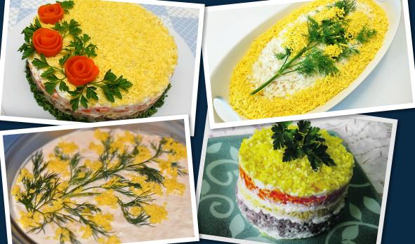 салат мимоза рецепт с консервой